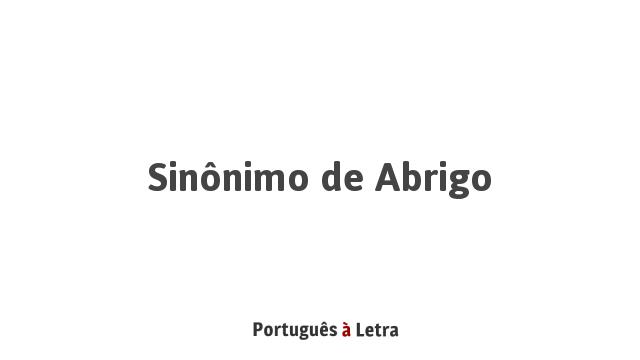 Sinonimo de abrigo portugues